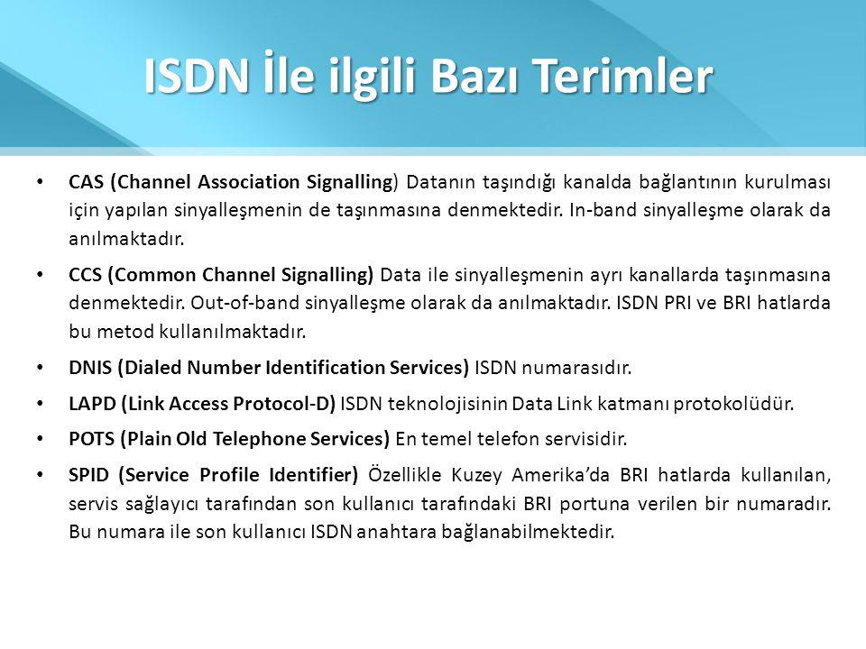 ISDN İle ilgili Bazı Terimler
