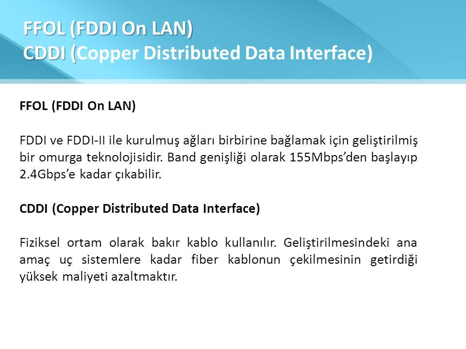 FFOL (FDDI On LAN) CDDI (Copper Distributed Data Interface)