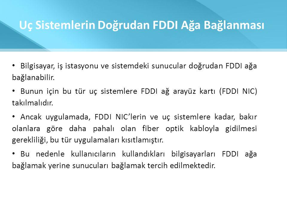 Uç Sistemlerin Doğrudan FDDI Ağa Bağlanması