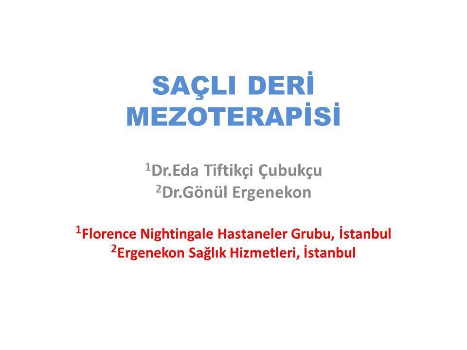 SAÇLI DERİ MEZOTERAPİSİ