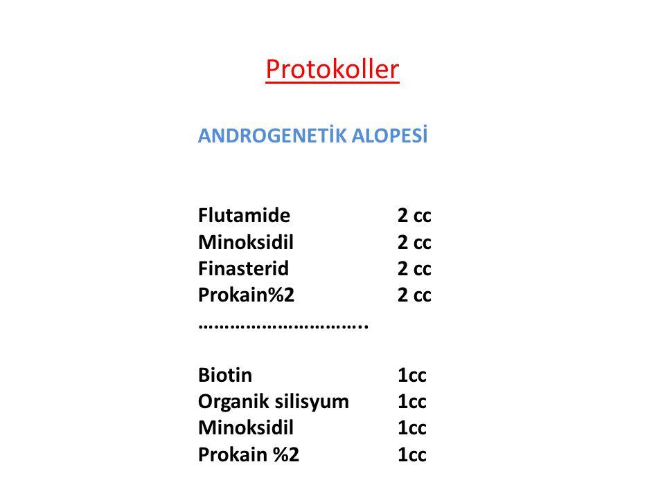 Protokoller ANDROGENETİK ALOPESİ Flutamide 2 cc Minoksidil 2 cc