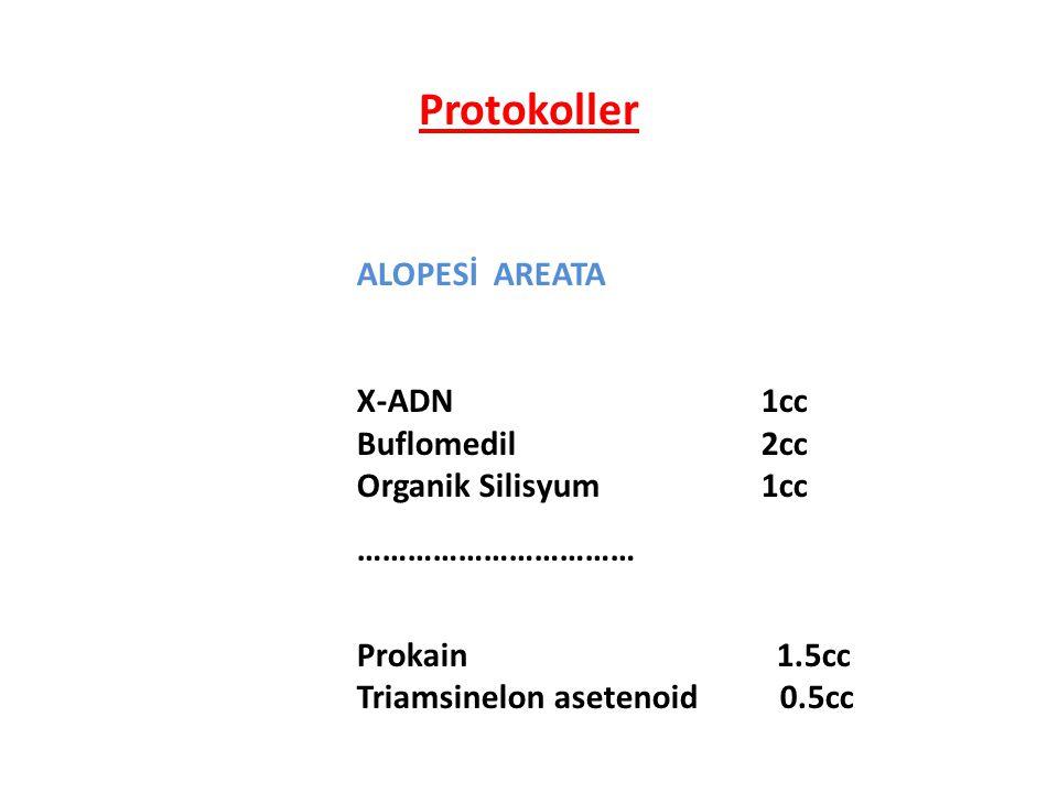 Protokoller ALOPESİ AREATA X-ADN 1cc Buflomedil 2cc