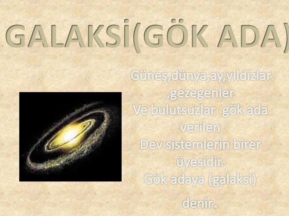 GALAKSİ(GÖK ADA) Güneş,dünya,ay,yıldızlar,gezegenler