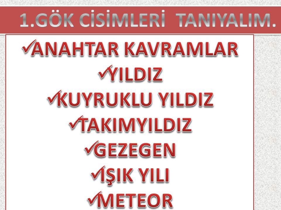 1.GÖK CİSİMLERİ TANIYALIM.