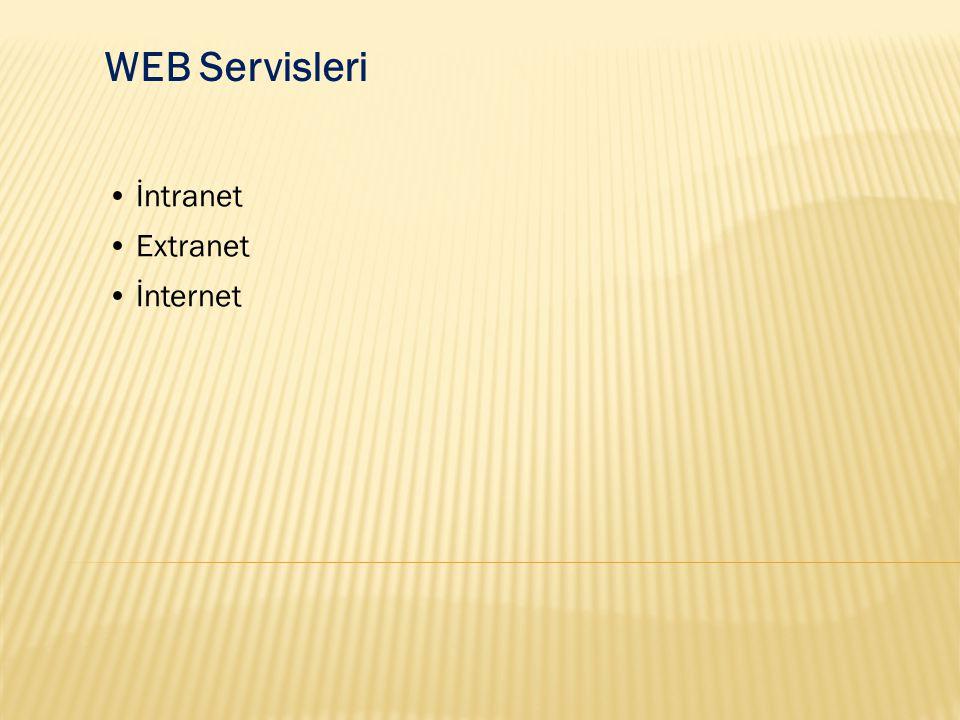 WEB Servisleri İntranet Extranet İnternet