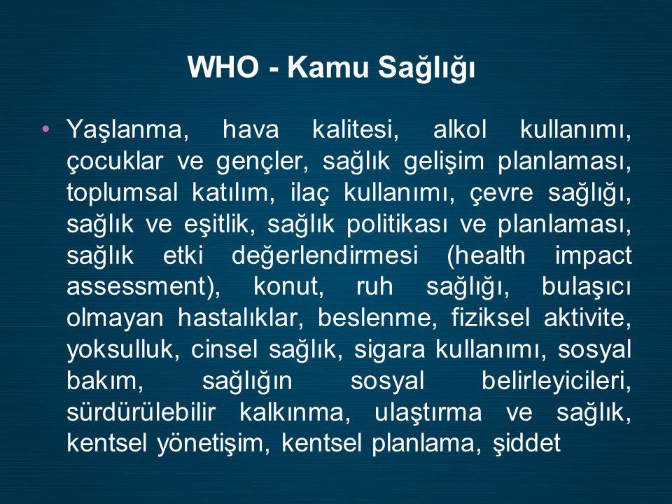 WHO - Kamu Sağlığı