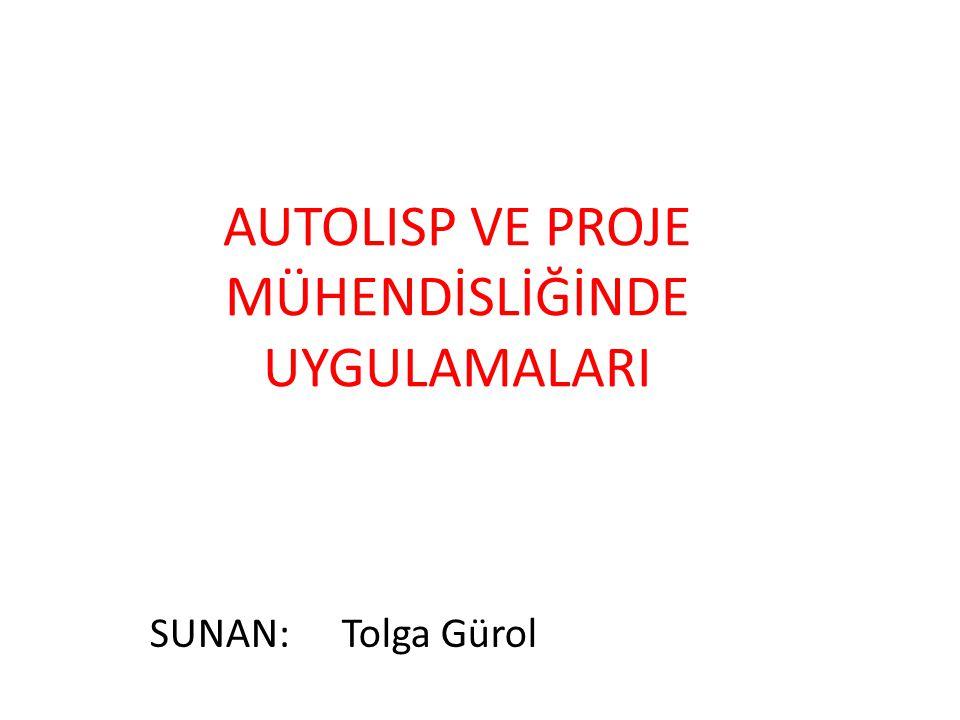 AUTOLISP VE PROJE MÜHENDİSLİĞİNDE UYGULAMALARI