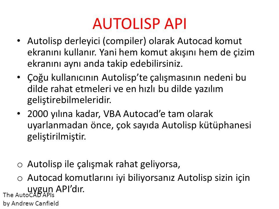 AUTOLISP API
