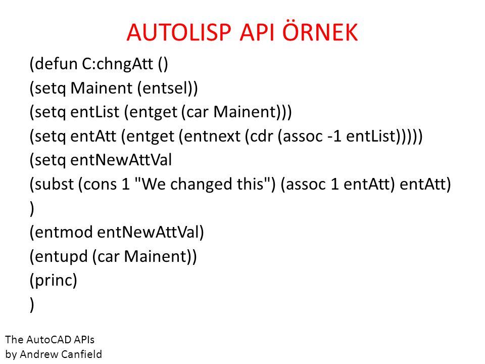 AUTOLISP API ÖRNEK