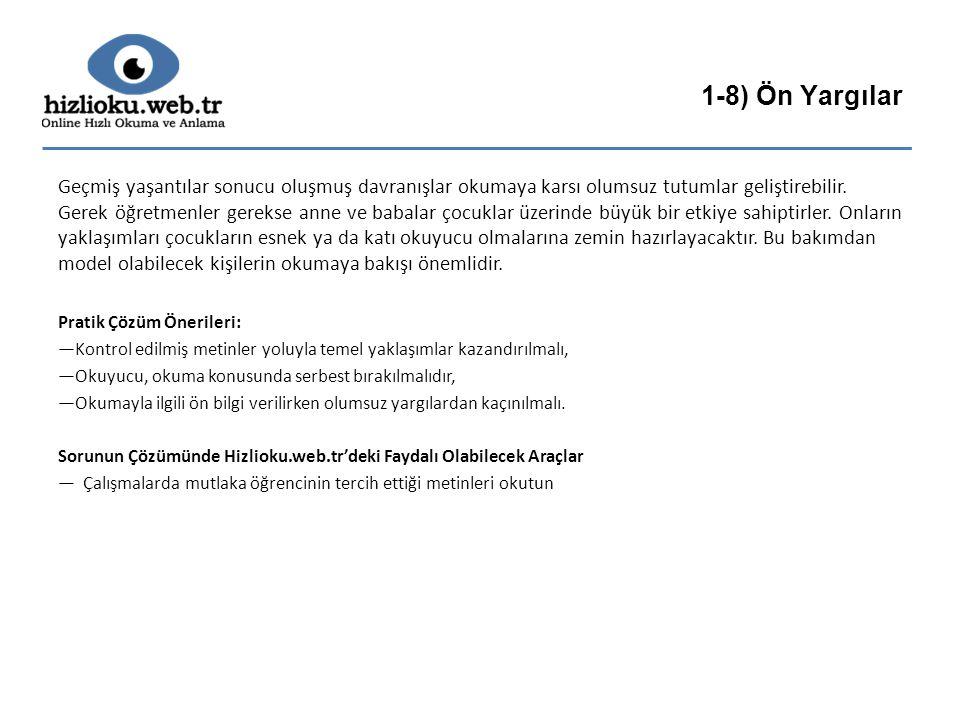 1-8) Ön Yargılar
