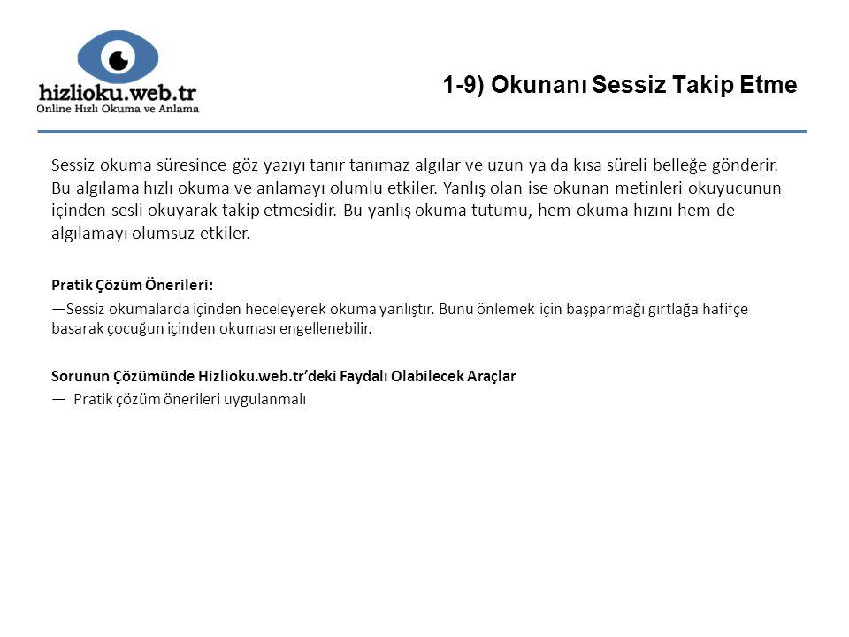 1-9) Okunanı Sessiz Takip Etme
