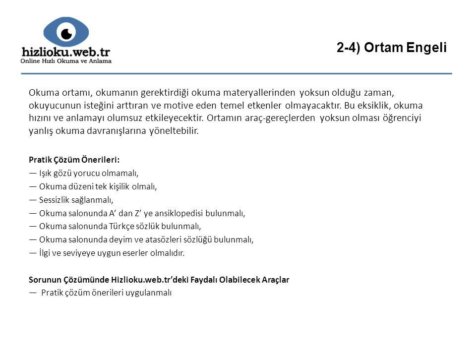 2-4) Ortam Engeli