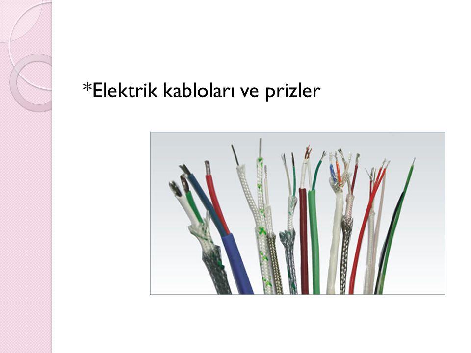 *Elektrik kabloları ve prizler