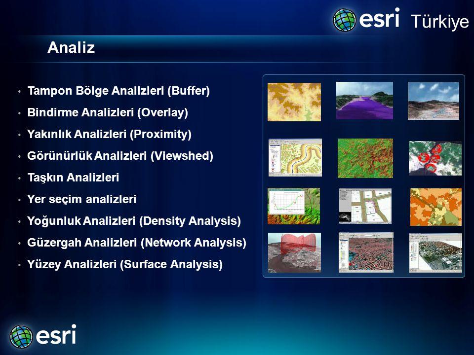 Türkiye Analiz Tampon Bölge Analizleri (Buffer)