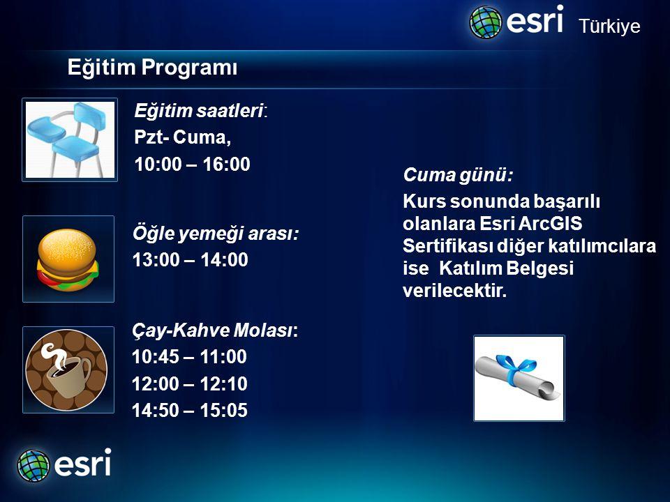Eğitim Programı Türkiye Eğitim saatleri: Pzt- Cuma, . 10:00 – 16:00