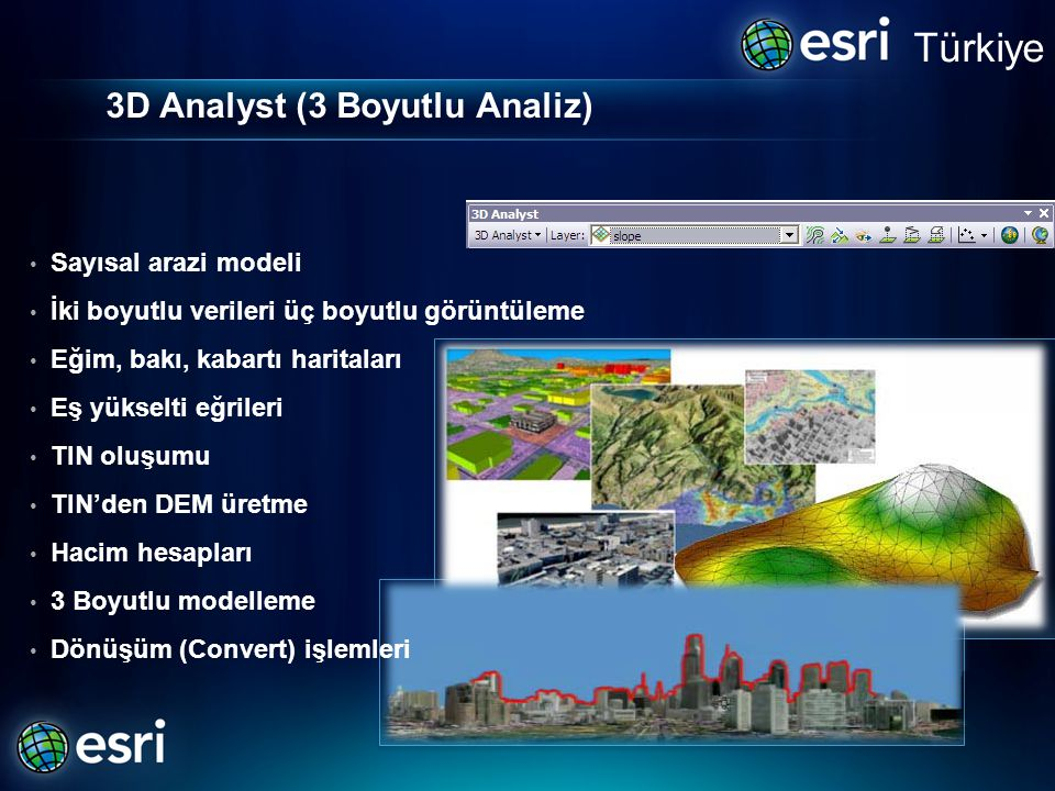 3D Analyst (3 Boyutlu Analiz)