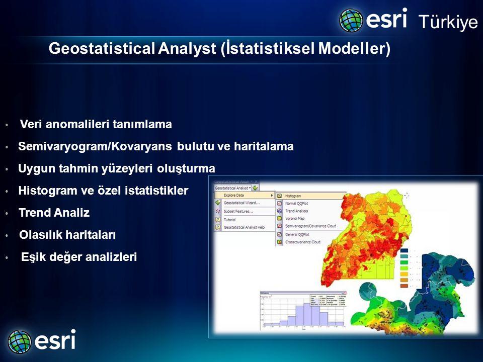 Geostatistical Analyst (İstatistiksel Modeller)