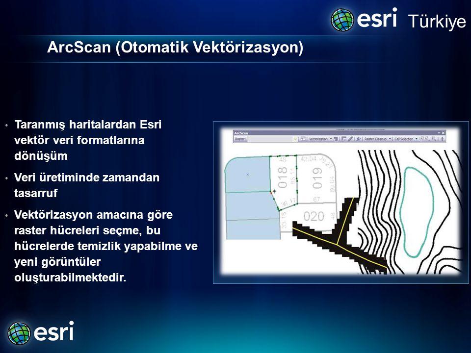 ArcScan (Otomatik Vektörizasyon)