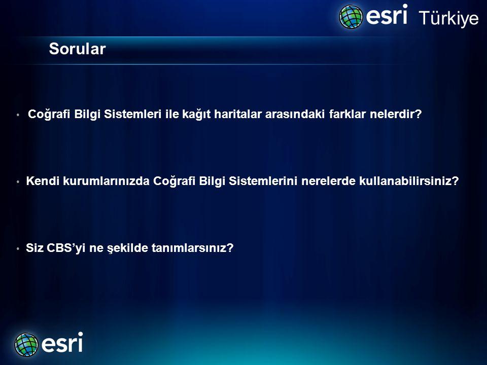 Türkiye Sorular. Coğrafi Bilgi Sistemleri ile kağıt haritalar arasındaki farklar nelerdir
