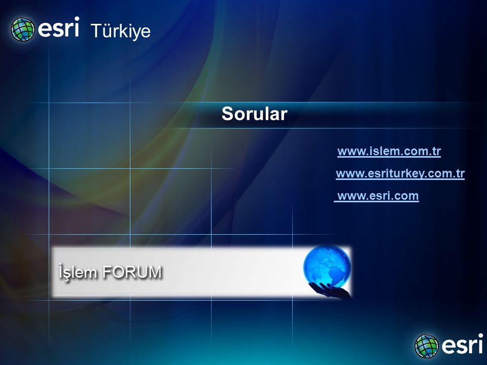 Türkiye Sorular www.islem.com.tr www.esriturkey.com.tr www.esri.com