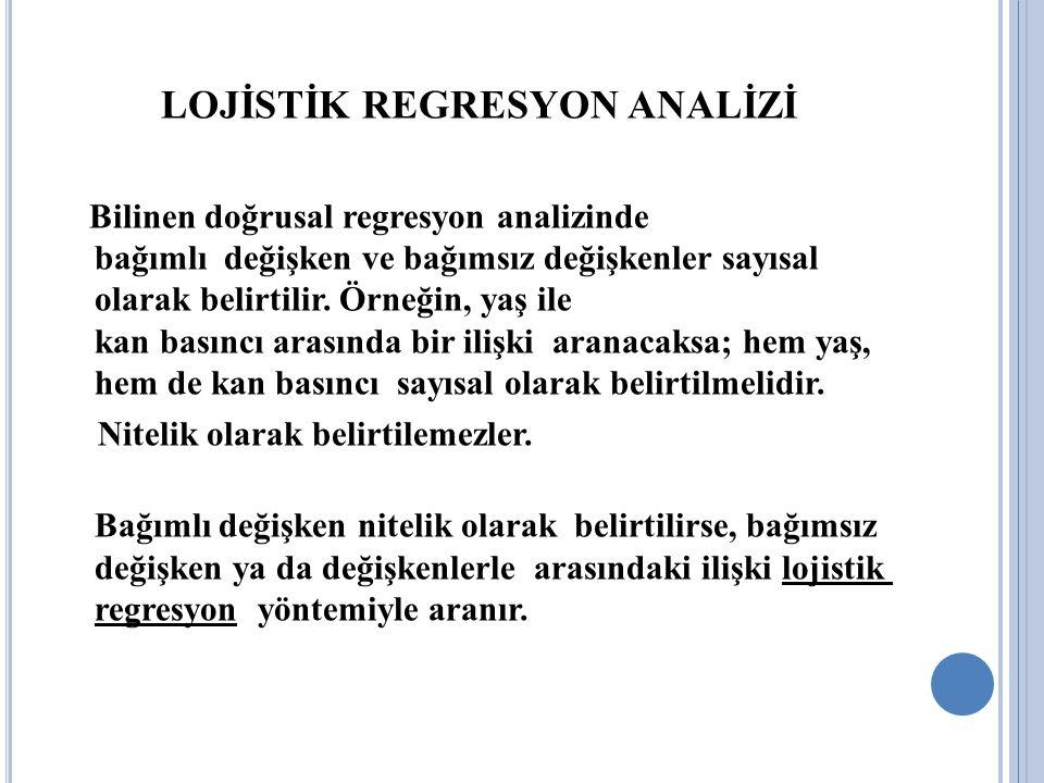LOJİSTİK REGRESYON ANALİZİ