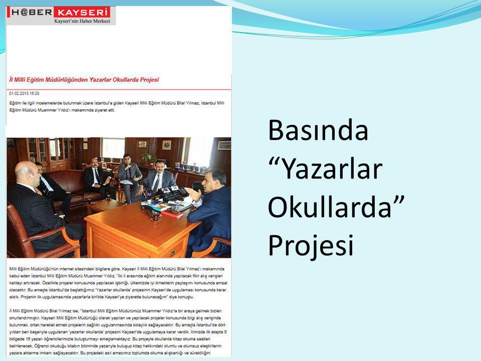 Basında Yazarlar Okullarda Projesi