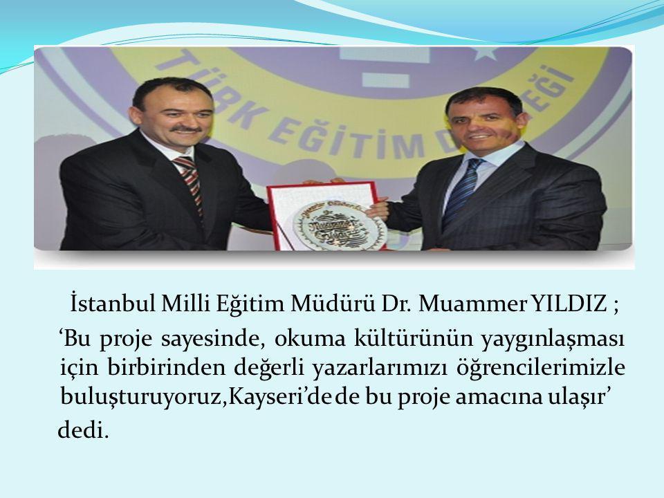İstanbul Milli Eğitim Müdürü Dr