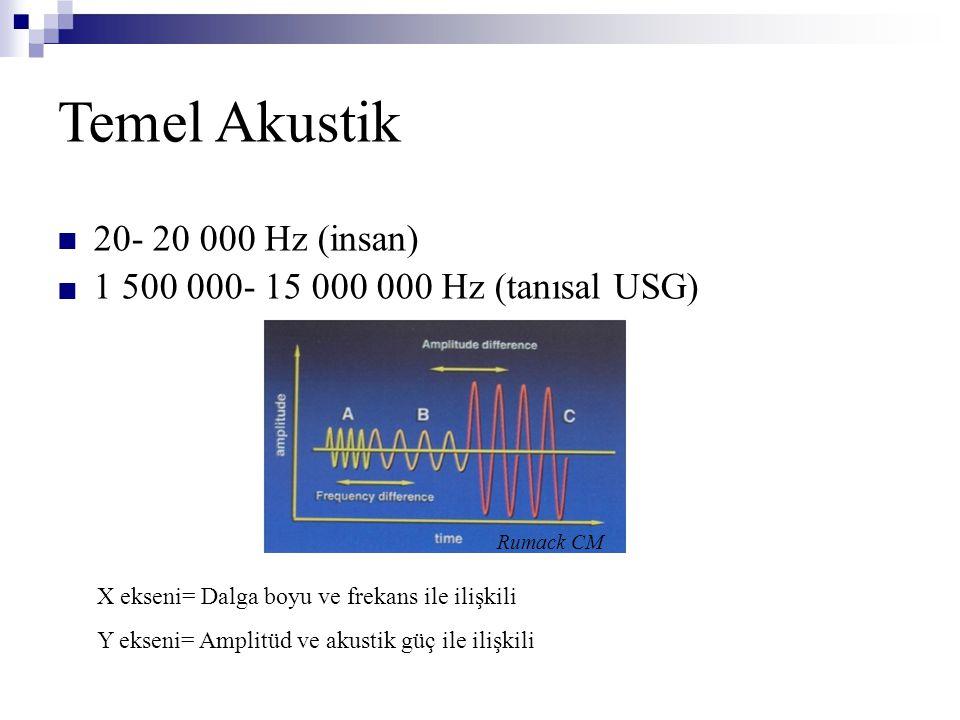 Temel Akustik 20- 20 000 Hz (insan)