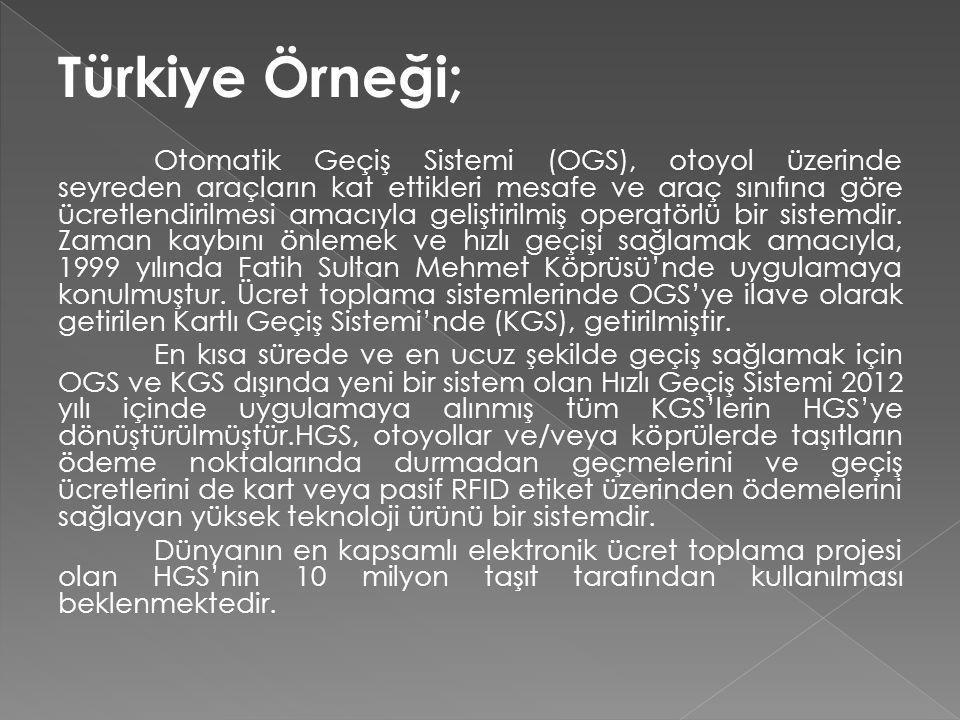 Türkiye Örneği;