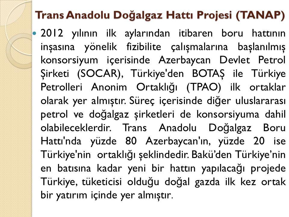 Trans Anadolu Doğalgaz Hattı Projesi (TANAP)