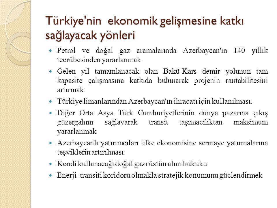 Türkiye nin ekonomik gelişmesine katkı sağlayacak yönleri