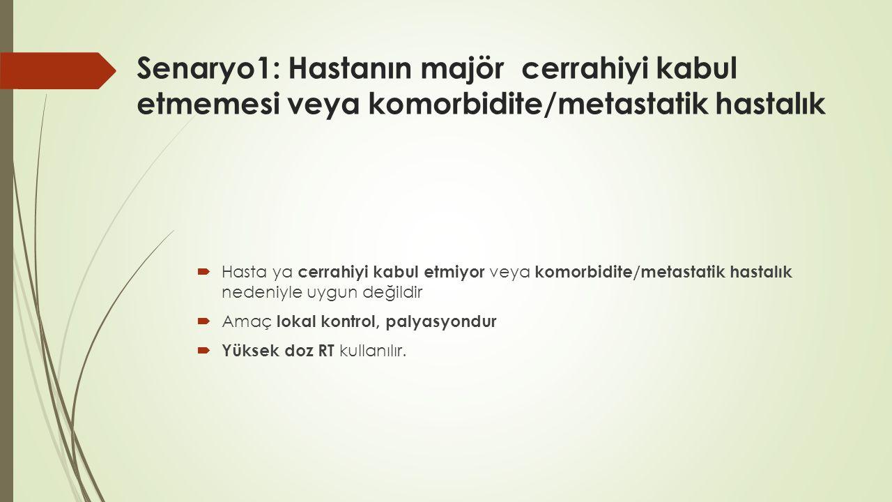 Senaryo1: Hastanın majör cerrahiyi kabul etmemesi veya komorbidite/metastatik hastalık