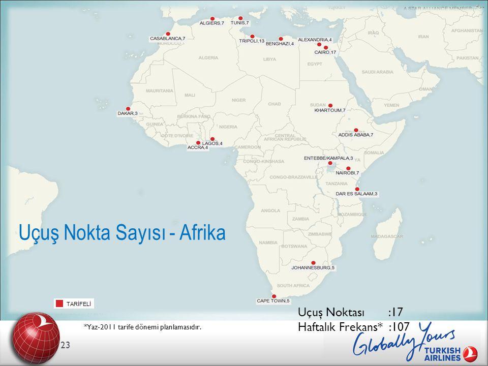Uçuş Nokta Sayısı - Afrika
