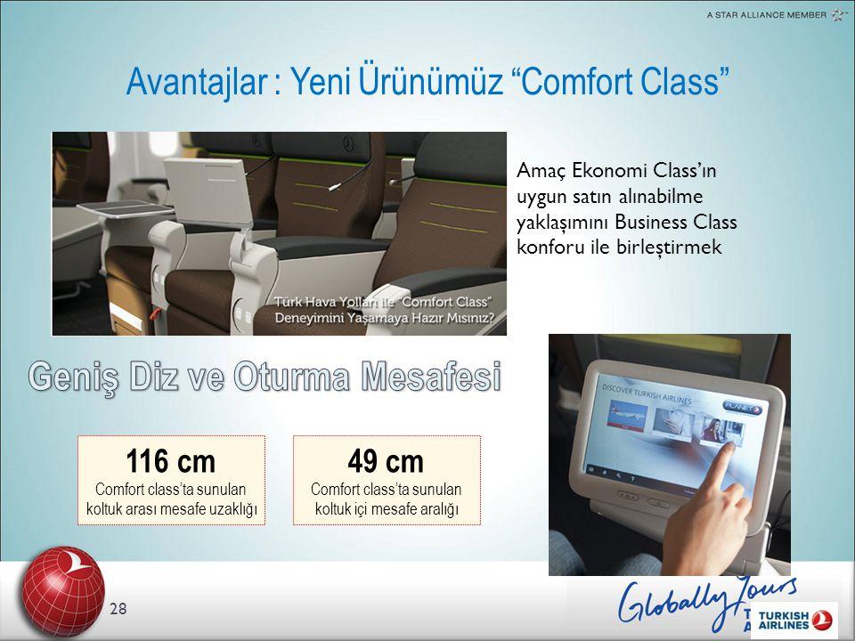 Avantajlar : Yeni Ürünümüz Comfort Class