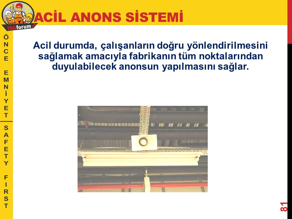 ACİL ANONS SİSTEMİ