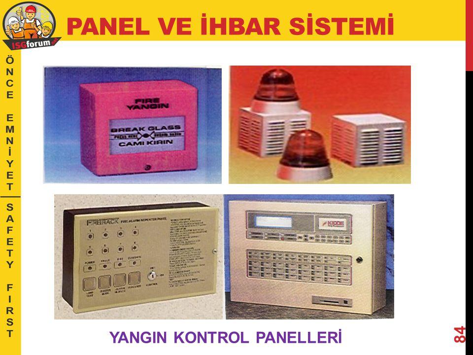 PANEL VE İHBAR SİSTEMİ YANGIN KONTROL PANELLERİ
