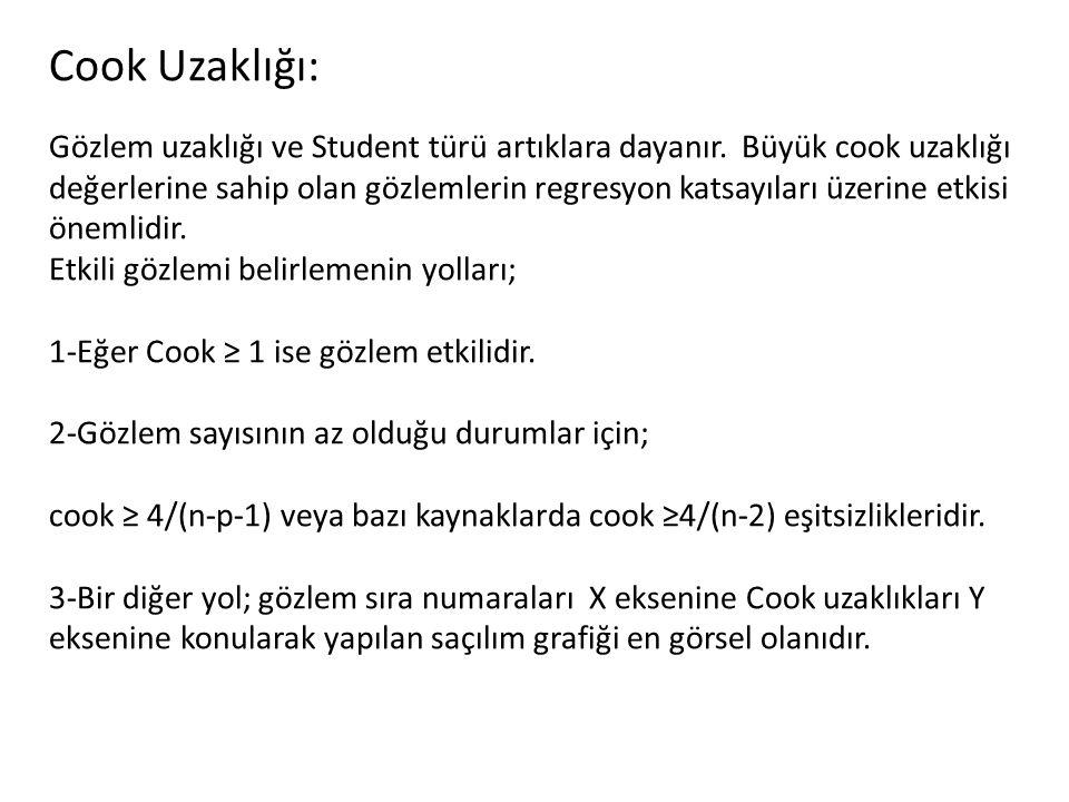 Cook Uzaklığı: