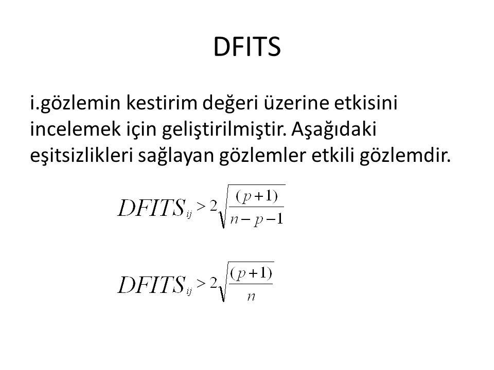 DFITS i.gözlemin kestirim değeri üzerine etkisini incelemek için geliştirilmiştir.