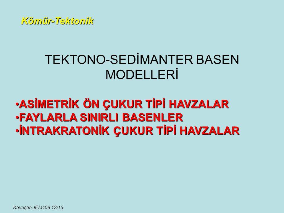 TEKTONO-SEDİMANTER BASEN MODELLERİ