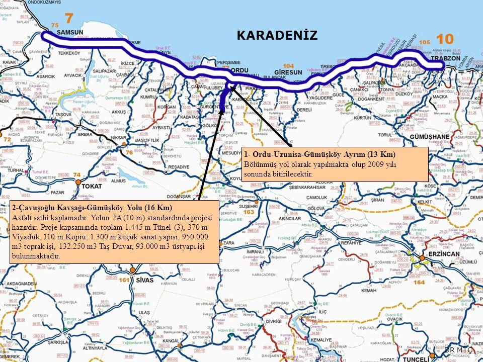 KARADENİZ 1- Ordu-Uzunisa-Gümüşköy Ayrım (13 Km)