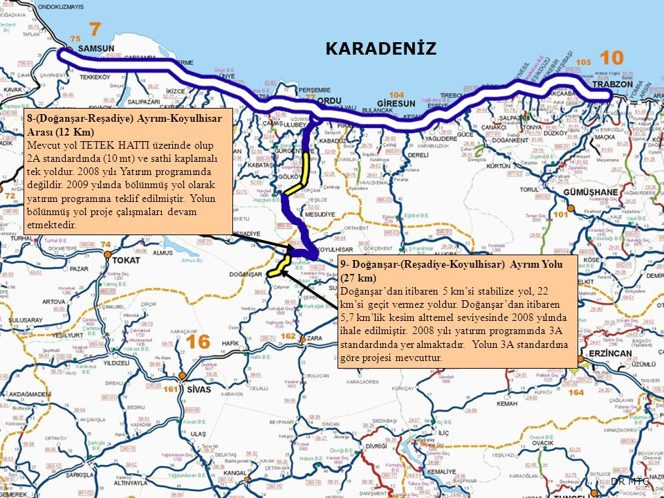 KARADENİZ 8-(Doğanşar-Reşadiye) Ayrım-Koyulhisar Arası (12 Km)