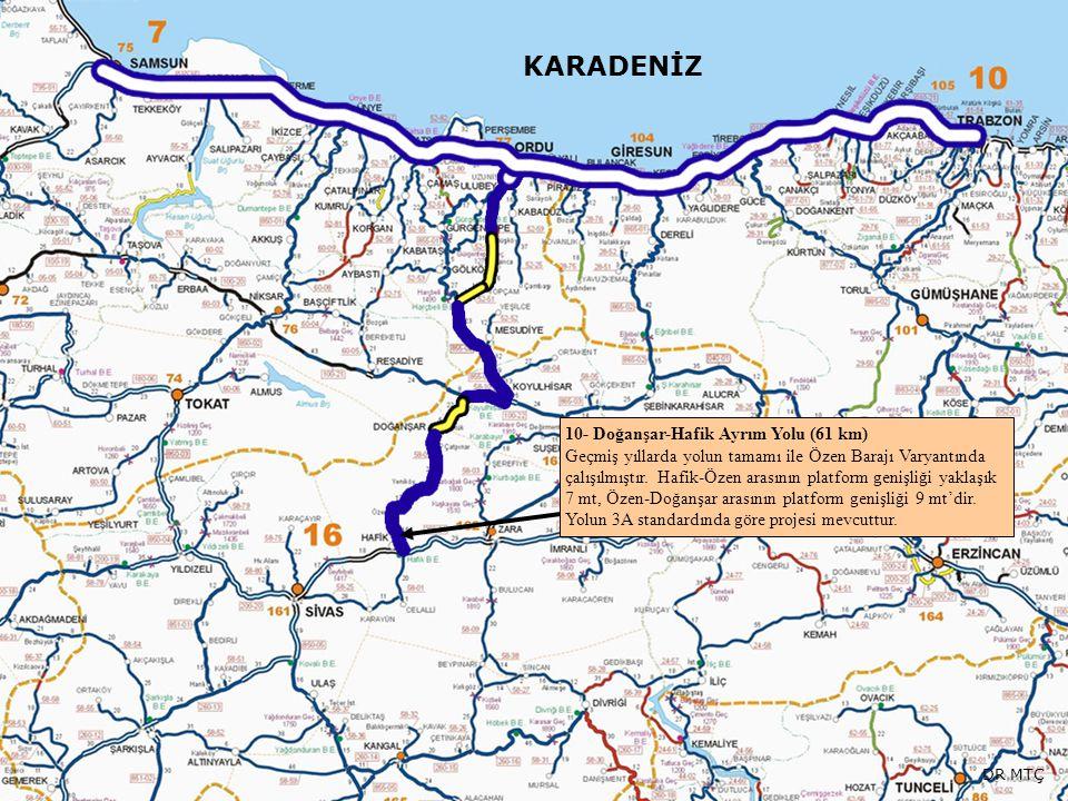 KARADENİZ 10- Doğanşar-Hafik Ayrım Yolu (61 km)