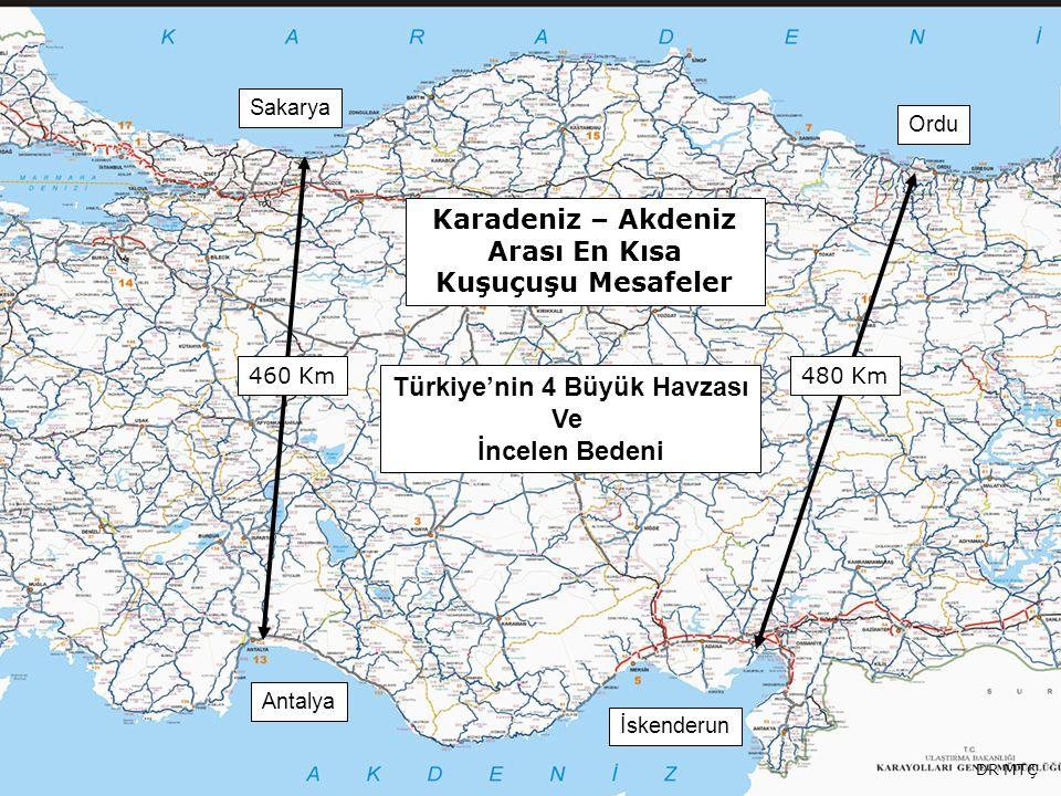 Karadeniz – Akdeniz Arası En Kısa Kuşuçuşu Mesafeler