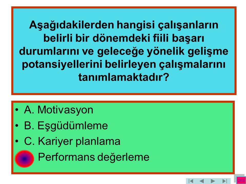 D. Performans değerleme