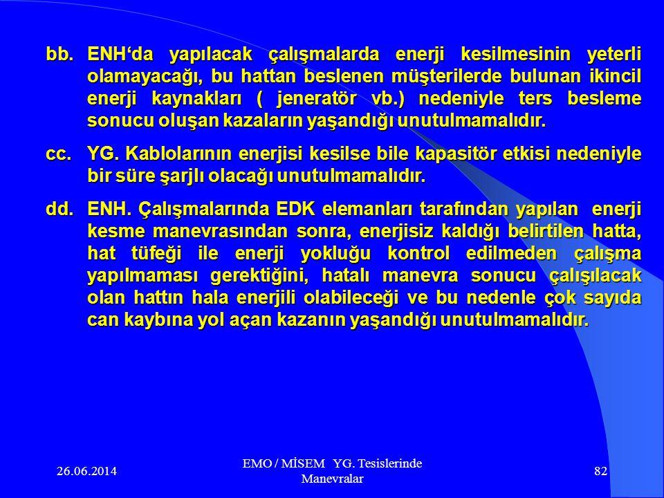 EMO / MİSEM YG. Tesislerinde Manevralar