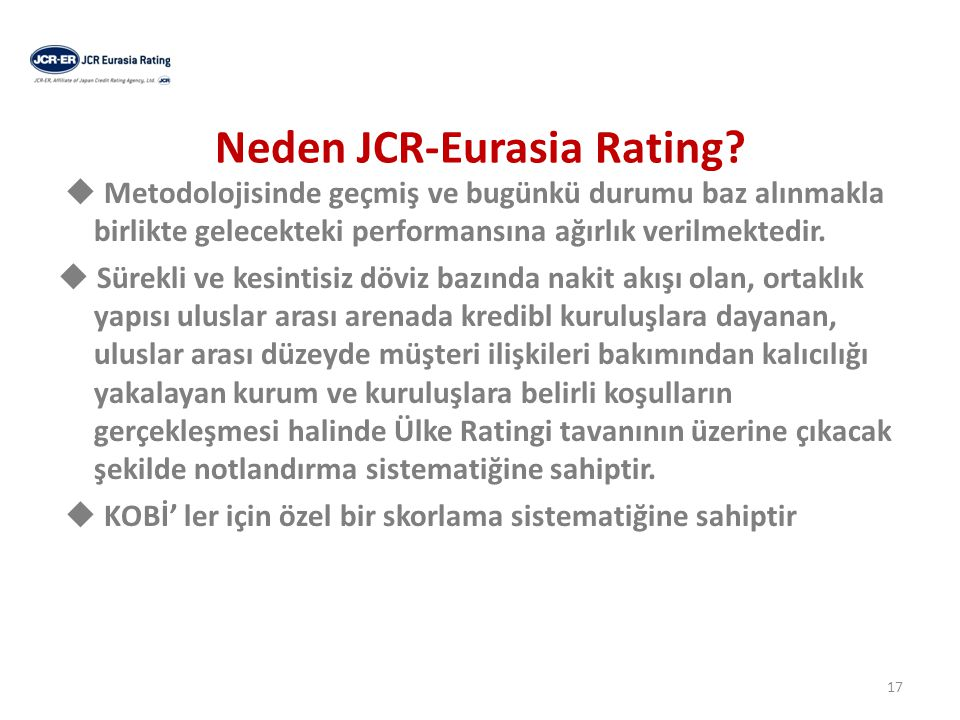 Neden JCR-Eurasia Rating