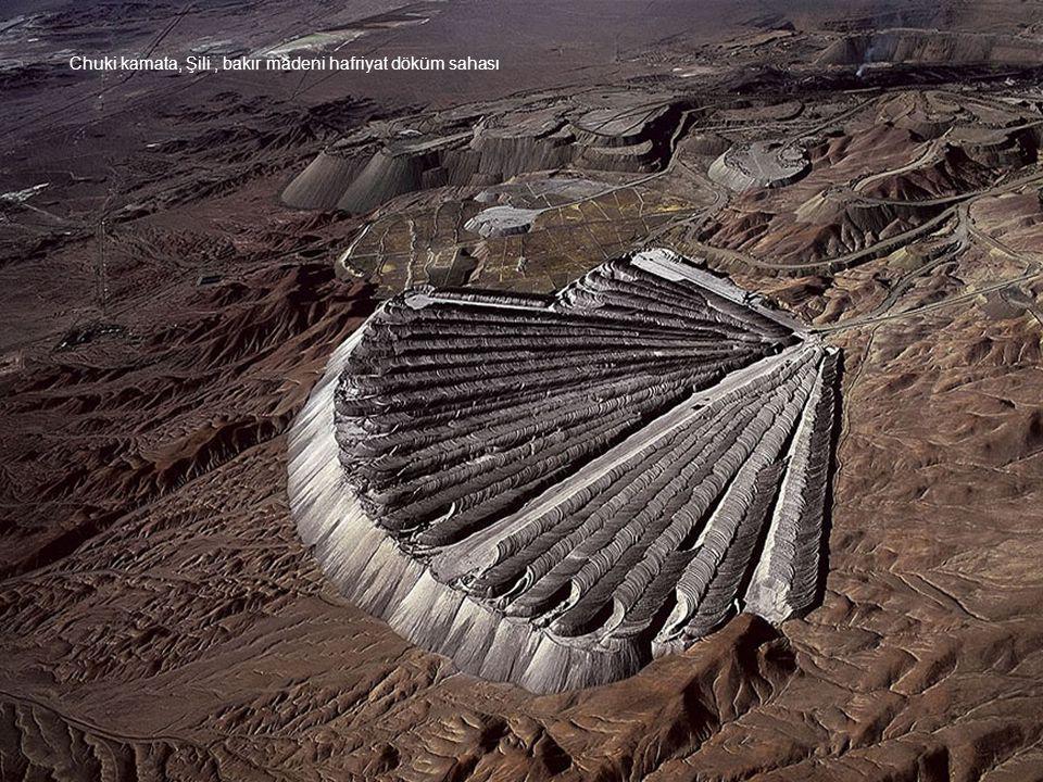 Chuki kamata, Şili , bakır madeni hafriyat döküm sahası