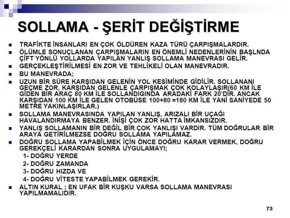 SOLLAMA - ŞERİT DEĞİŞTİRME
