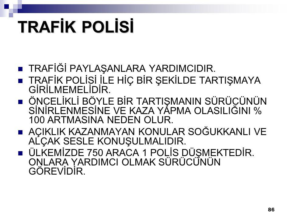 TRAFİK POLİSİ TRAFİĞİ PAYLAŞANLARA YARDIMCIDIR.