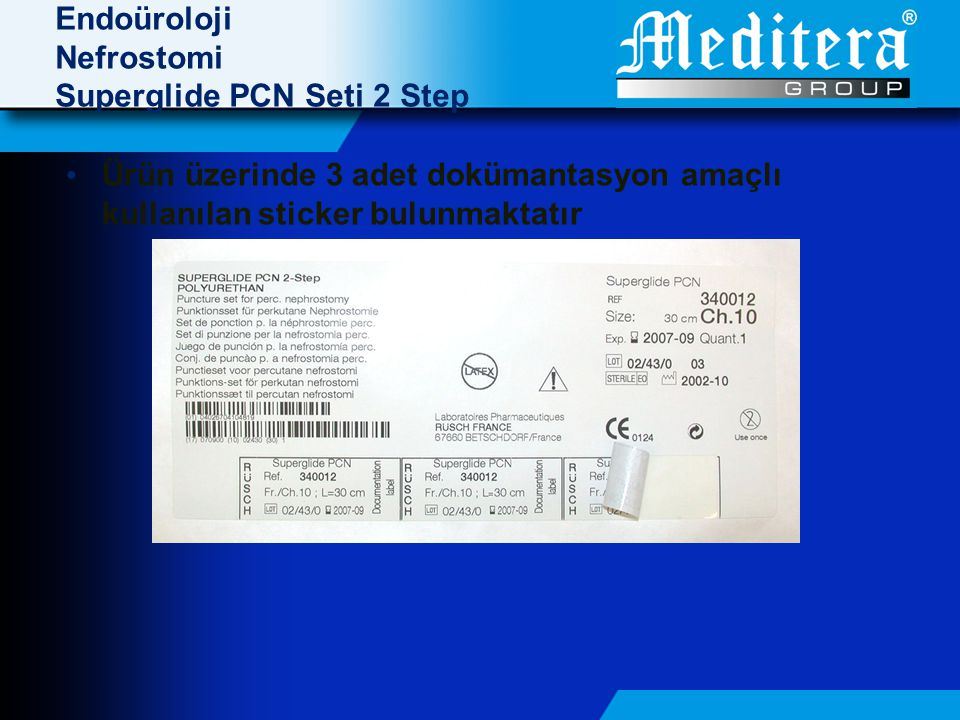 Endoüroloji Nefrostomi Superglide PCN Seti 2 Step